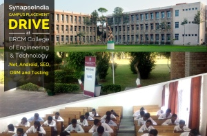 SynapseIndia Campus Placement Drive at BRCM College