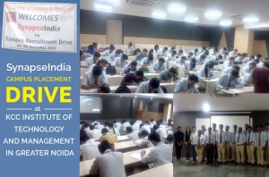 SynapseIndia Campus Placement Drive at KCC Institute of Technology and Management