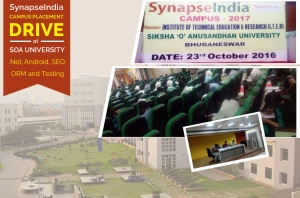 SynapseIndia Campus Placement Drive at SOA University