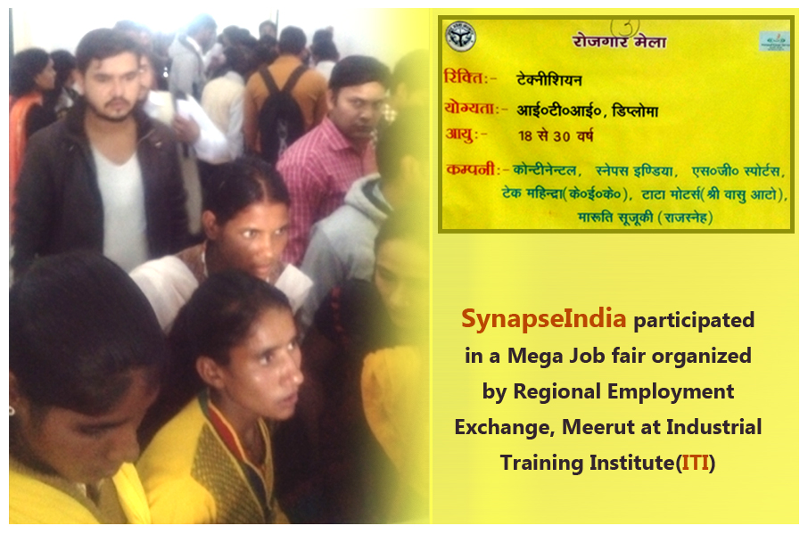 SynapseIndia participated in Mega Job fair at ITI