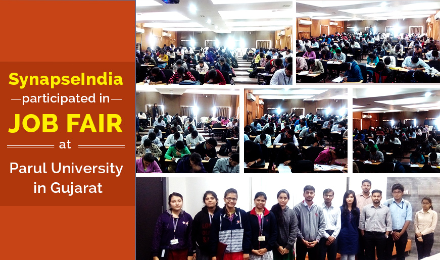 SynapseIndia participated in Mega Job fair at Parul University