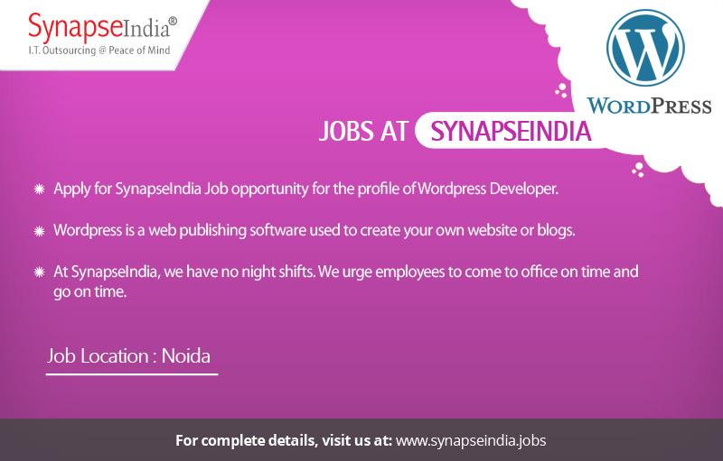 SynapseIndia Job